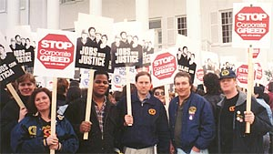 Jobs with Justice rally ...