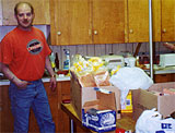 Local Vice Pres. Kevin Elmquist and a portion of the groceries for the breakfast ...