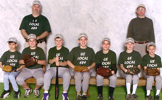Champs! The Little League team sponsored by UE Local 684 took first place this year in the North East, Pa. league.