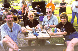 Taking a break from struggle: District 11 Council delegates relax at picnic.