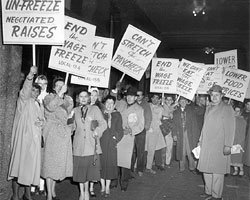 UE members exercise their rights at a downtown Philadelphia demonstration in 1951.