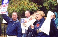 Teachers and nurses at the Western Pennsylvania School for Blind Children rally October 16th for a decent contract.
